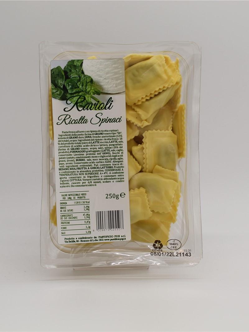 Product | RAVIOLI RICOTTA E SPINACI 250g
