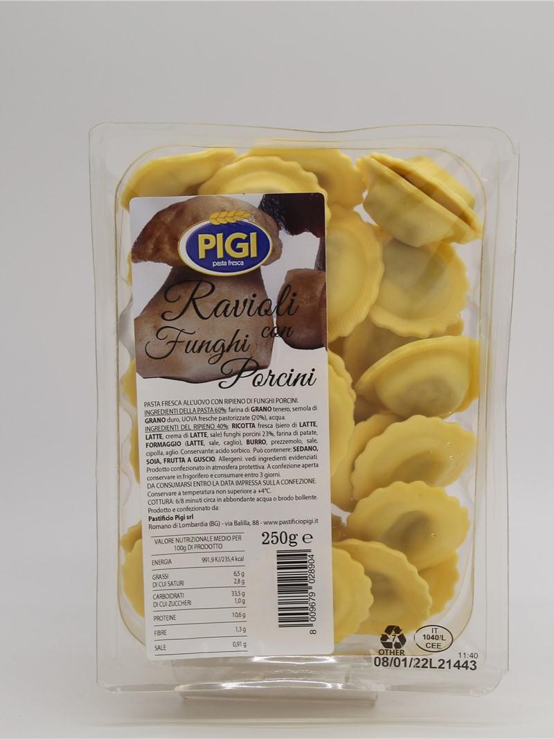 Product | RAVIOLI AI FUNGHI PORCINI 250g